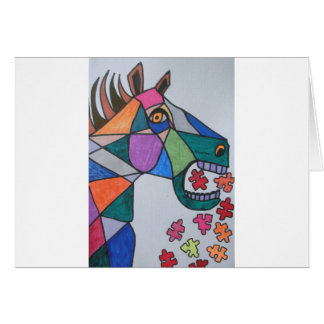The Angry Horse Greeting Card