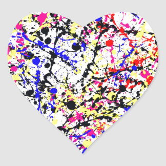 The Angry Painter Heart Sticker
