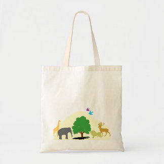 The Animal Tree Tote Canvas Bag