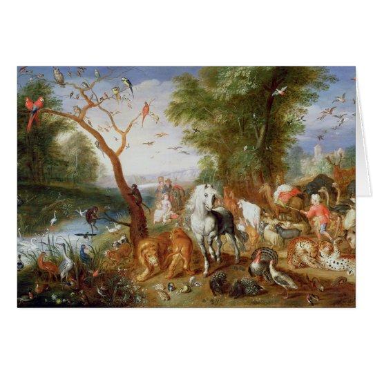 The Animals entering Noah's Ark Card