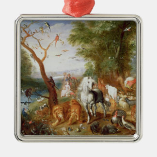 The Animals entering Noah's Ark Christmas Ornament