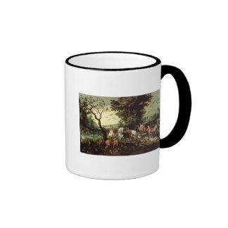 The Animals Entering Noah's Ark Ringer Mug