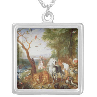 The Animals entering Noah's Ark Silver Plated Necklace