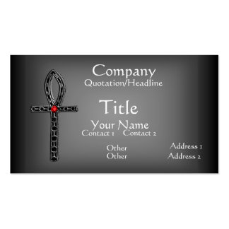 The Ankh (Silver) Business Card