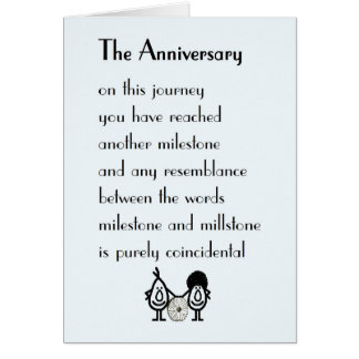 The Anniversary - a funny wedding anniversary poem Greeting Card