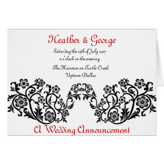 the announcement greeting card
