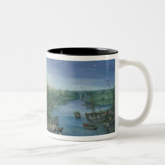 The Annual Parish Fair in Schelle, 1614 Two-Tone Coffee Mug