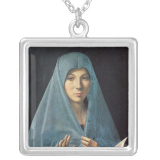 The Annunciation, 1474-75 Square Pendant Necklace