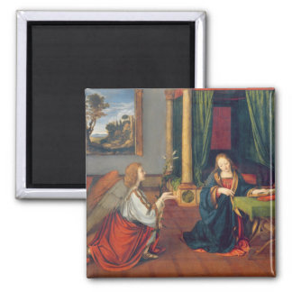 The Annunciation, 1506 Square Magnet
