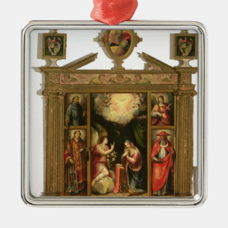 The Annunciation, 1581 Silver-Colored Square Decoration