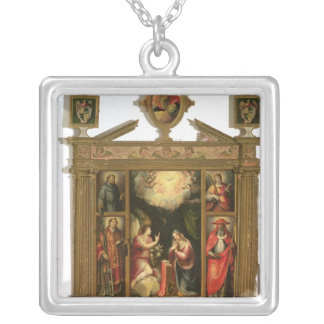 The Annunciation, 1581 Silver Plated Necklace