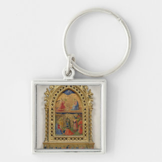 The Annunciation and the Adoration of the Magi (te Silver-Colored Square Key Ring