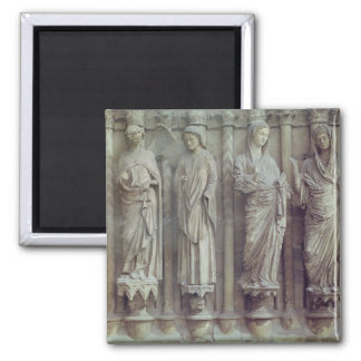 The Annunciation and the Visitation Square Magnet