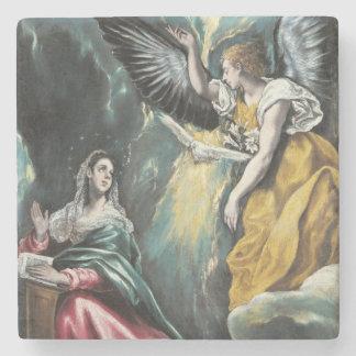 The Annunciation by El Greco Stone Coaster
