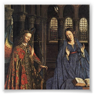 The Annunciation by Jan van Eyck Art Photo
