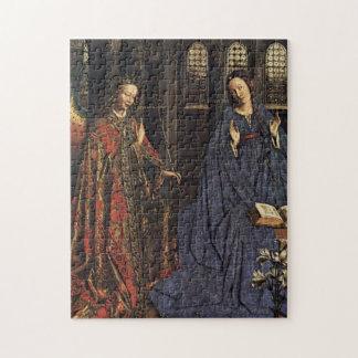 The Annunciation by Jan van Eyck Jigsaw Puzzle