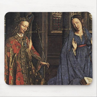 The Annunciation by Jan van Eyck Mousepads