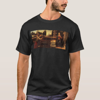 The Annunciation by Leonardo Da Vinci c. 1472-1475 T-Shirt