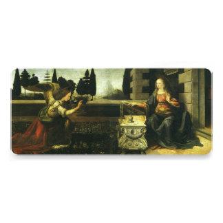 The Annunciation by Leonardo da Vinci Custom Invitations