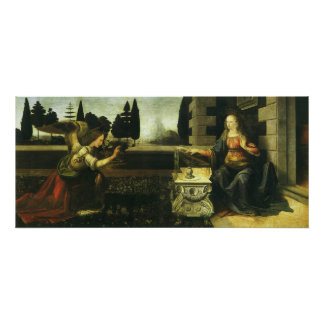The Annunciation by Leonardo da Vinci Poster