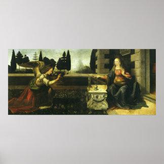 The Annunciation by Leonardo da Vinci Poster