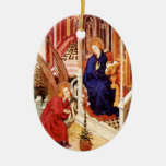 The Annunciation by Melchior Broederlam Christmas Christmas Tree Ornaments