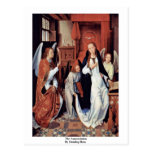 The Annunciation By Memling Hans Post Cards
