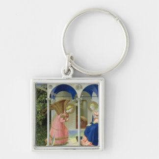 The Annunciation, c.1430-32 Silver-Colored Square Key Ring