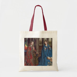 The Annunciation, c. 1434- 36 (oil on canvas) Budget Tote Bag