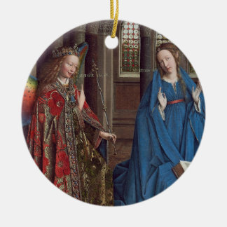 The Annunciation, c. 1434- 36 (oil on canvas) Christmas Ornament