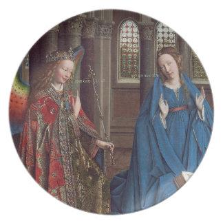 The Annunciation, c. 1434- 36 (oil on canvas) Dinner Plates