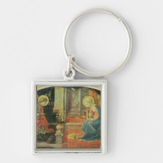 The Annunciation, c.1450-3 Silver-Colored Square Key Ring