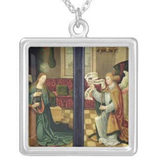 The Annunciation, Cologne School Silver Plated Necklace