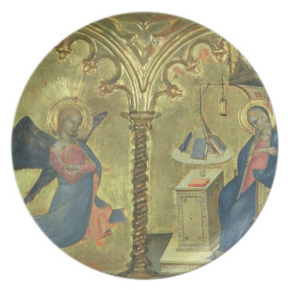 The Annunciation, detail from a polytych depicting Plate