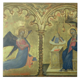 The Annunciation, detail from a polytych depicting Tile