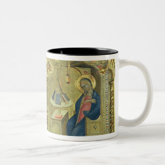 The Annunciation, detail from a polytych depicting Two-Tone Coffee Mug