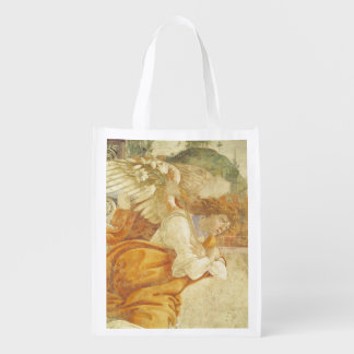 The Annunciation, detail of the Archangel Reusable Grocery Bag