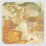 The Annunciation, detail of the Archangel Square Sticker