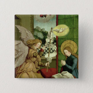 The Annunciation (oil on panel) 15 Cm Square Badge