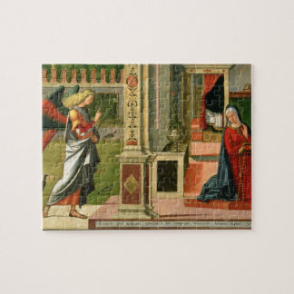 The Annunciation (oil on panel) (detail of 120955) Jigsaw Puzzle