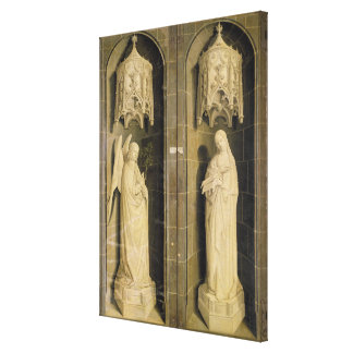 The Annunciation, outer panel from the Triptych Canvas Print