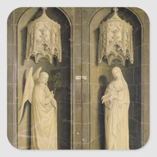 The Annunciation, outer panel from the Triptych Square Sticker
