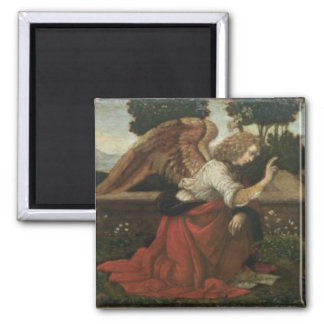 The Annunciation, predella panel from an altarpiec Fridge Magnet