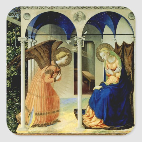 The Annunciation Square Sticker