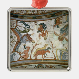 The Annunciation to the Shepherds 2 Silver-Colored Square Decoration
