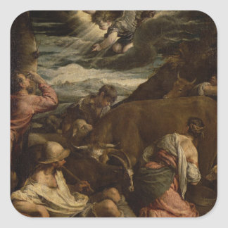 The Annunciation to the Shepherds, c.1557-8 Square Sticker