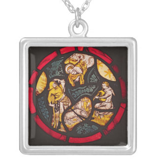 The Annunciation to the Shepherds Silver Plated Necklace