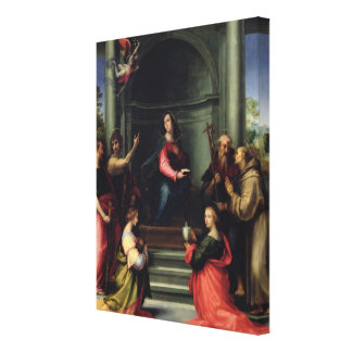 The Annunciation with Saints, 1515 Canvas Print