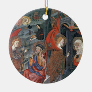 The Annunciation with Shepherds Making Cheese in t Christmas Ornament