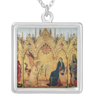 The Annunciation with St. Margaret and St. Silver Plated Necklace
